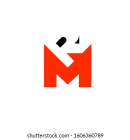 RM logo design simple modern template