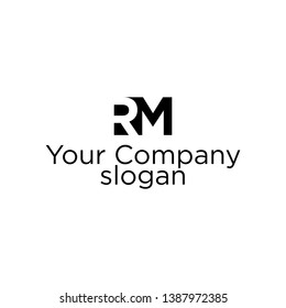 RM Logo. Vector Graphic Branding Letter Element