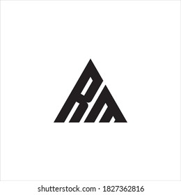 RM or MR letter logo design vector