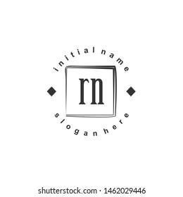 RN Initial beauty monogram logo vector
