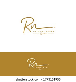 RN Initial letter handwriting and signature logo.