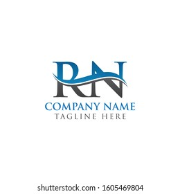 RN Letter Type Logo Design Vector Template. Abstract Letter RN Logo Design