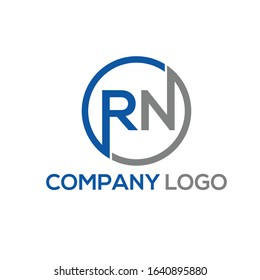 RN text logo template vector for your need