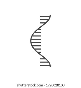 RNA related vector thin line icon. Isolated on white background. Editable stroke. Vector illustration.