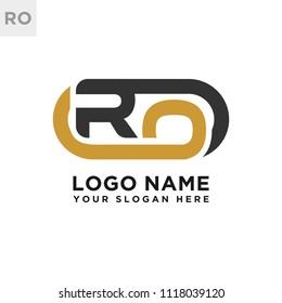 RO initial logo template vexctor