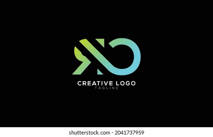 RO R AND O Abstract initial monogram letter alphabet logo design