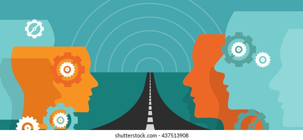 road ahead future concept of change hope plan journey leader vision uncertainty