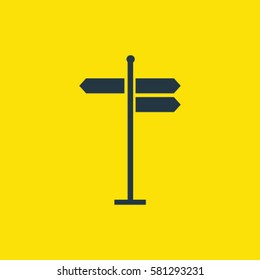 road arrows icon. isolated sign