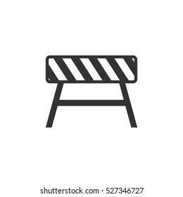 Road barrier icon flat. Illustration isolated vector sign symbol
