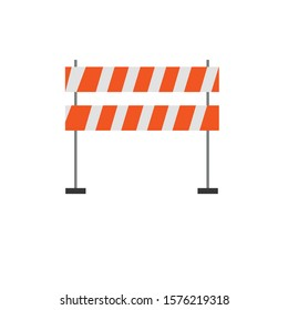Road barriers simple clip art vector illustration