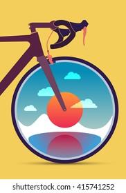 Road bike front sunrise wheel