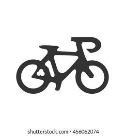 Road bike icon. Vector illustrator.