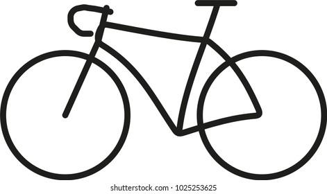 road bike pictogram