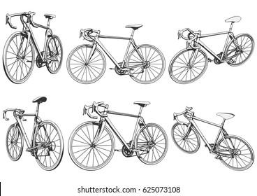 road bike. racing bike. bicycle. vector illustration.