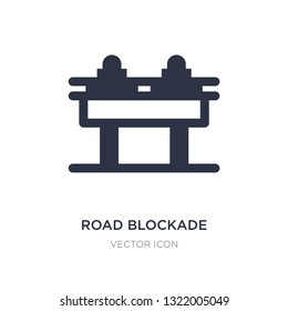 road blockade icon on white background. Simple element illustration from Alert concept. road blockade sign icon symbol design.
