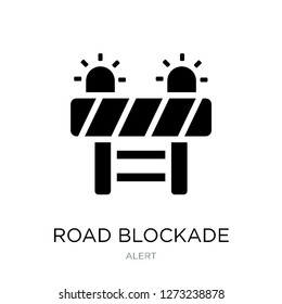 road blockade icon vector on white background, road blockade trendy filled icons from Alert collection, road blockade simple element illustration