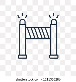 Road blockade vector outline icon isolated on transparent background, high quality linear Road blockade transparency concept can be used web and mobile