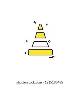 road blocker icon vector design