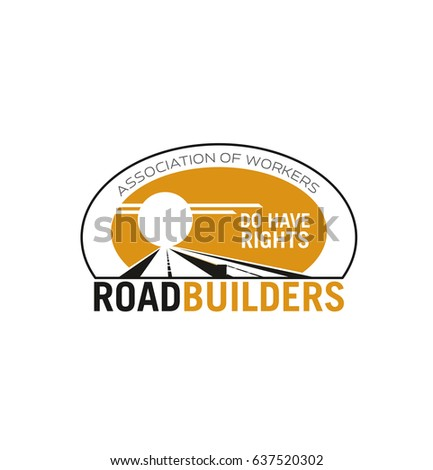 road builder association icon template safety stock vector royalty