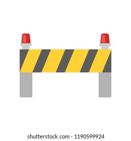 road closed street barrier on road colored icon. Element of colored construction sign for mobile concept and web apps. Color street barrier icon can be used for web and mobile on white background