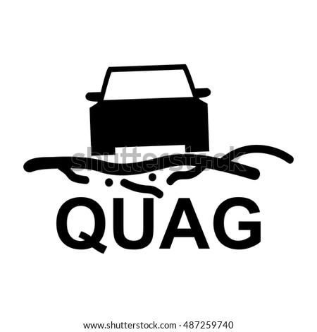 Road Condition Icon Quag Car Dashboard Stock Vector Royalty Free