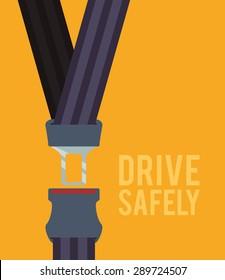 Road design over yellow background, vectori llustration.