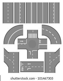 Road elements set