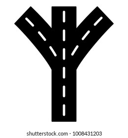Road forkicon. Simple illustration of road fork vector icon for web.