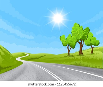 road going into the distance