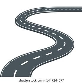 Road, highway on white background vector illustration