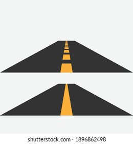 Road highway set on the background Vector