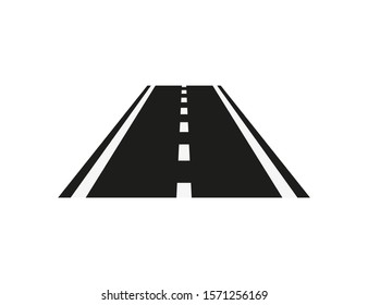 road icon isolate on white background, vector illustration