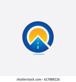 road icon to logo company