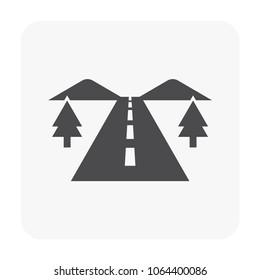 Road icon on white.