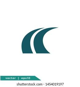road icon symbol vector logo element