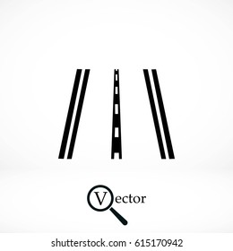road icon vector, flat design best vector icon