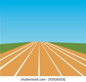 road  illustration vector art scene
