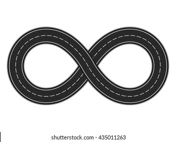 Road infinity on white background, vector eps10 illustration