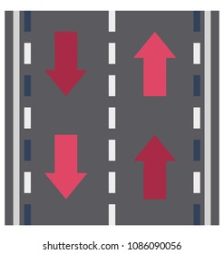 Road Isolated Vector Icon