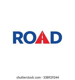 road logotype vector.