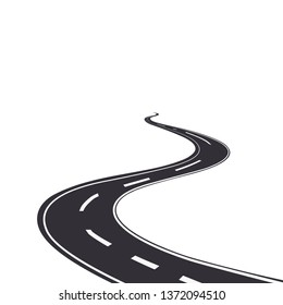 Road long in perspective vector design illustration empty