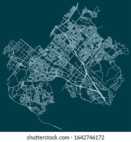 Road map of Irvine, California, United States