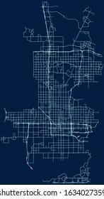 Road map of Phoenix, Arizona, USA