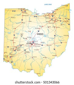 Ohio And Surrounding States Map.Ohio Map Images Stock Photos Vectors Shutterstock