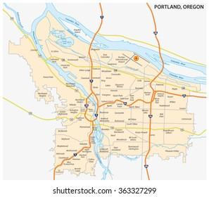 City Map of Portland Images, Stock Photos & Vectors   Shutterstock City Map Of Portland Oregon on