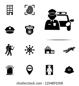 road patrol icon. Police icons universal set for web and mobile