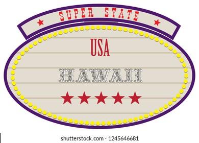 Road Retro Index Super State USA - Hawaii