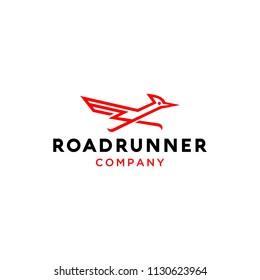 Road runner bird logo business