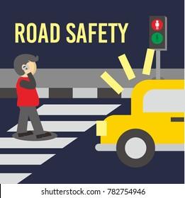 Road Safety Illustration Vector