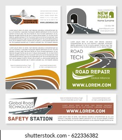 road travel traffic safety flyer template stock vector royalty free